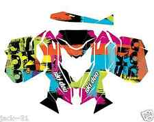 RACING SKI-DOO REV XM SUMMIT SNOWMOBILE SLED GRAPHIC KIT WRAP FLUO 2013 2015