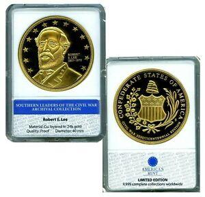 ROBERT E LEE CIVIL WAR COMMEMORATIVE COIN PROOF LUCKY MONEY VALUE $99.95