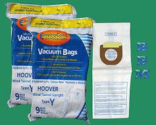 18 Hoover 4010100Y WindTunnel Allergy Vacuum Cleaner Type Y Bags Dual V Plus