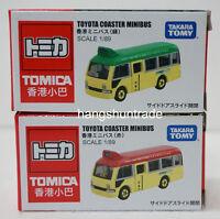 Tomica 1:89 Toyota Coaster LPG Hong Kong Minibus Red / Green Van Vehicle Model