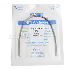 AZDENT 1 Pack Dental Orthodontic Super Elastic Nitinol Niti Round Arch Wire