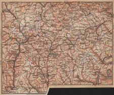 VULKANEIFEL. THE VOLCANIC EIFEL topo-map. Gerolstein. Germany karte 1903