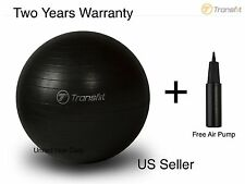 Black-65CM Yoga Ball Exercise Pilates Balance Gymnastic Fitness Air Pump