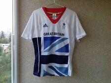 Adidas London 2012 Team GB Short Sleeve Mens Running Top L JERSEY Great Britain