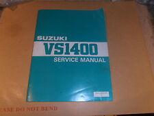 SUZUKI VS1400 VS 1400 GENUINE SERVICE MANUAL PRINTED 1987