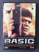 DVD BASIC John Travolta Connie Nielsen Samuel Jackson G Ribisi JOHN McTIERNAN