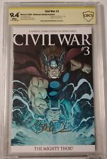 CIVIL WAR #3 MIGHTY THOR VARIANT CBCS 9.4