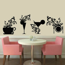 Wall Decal Kitchen Dining Room Tableware Glass Cutlery Knife Dish Fork M1341