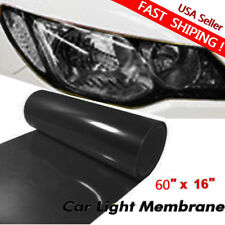 "Car Headlight Tint Film Taillight Vinyl Wrap Fog Light Dark Black 16"" x 60"""