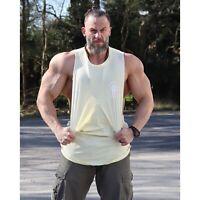 Mens Plain Vest 100% Cotton Tank Top Summer Gym Sleeveless T Shirt Muscle Fit