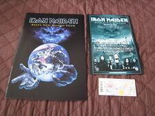 Iron Maiden World Tour Program Book 2000 w Japan Ticket Stub Japanese Handbill