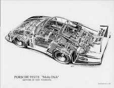 Porsche 935 'Moby Dick' Cutaway poster/Print/race car/shin 935/78