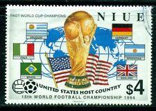 NIUE 667 SG779 Used 1994 $4 Soccer Cat$8