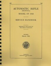 WWD845 ~ Browning Automatic Rifle Model 1918  Manual ~ WWI 1918  ~ Reprnt