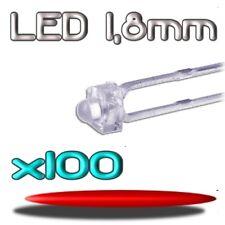 362/100# LED rouge  1,8mm 100pcs --- 1800mcd