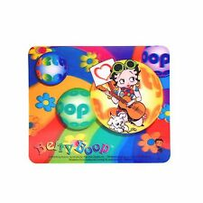 "Lenticular Betty Boop Hippy Groovy Guitar Dog 7x8"" Sticker #BB-207-ST7X8#"