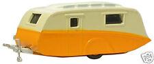 Oxford 76cv001 1950's Caravan Orange / Cream 1/76 Scale = 00 Gauge Tracked 48