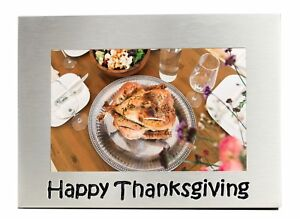 """Happy Thanksgiving Photo Picture Frame Gift - 6"""" x 4"""""""