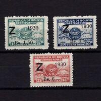 BOLIVIA 1930, Sc# C24-C26, CV $240, Air Mail, MH