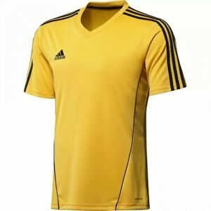 Adidas Mens Estro 12 Climalite Soccer Short Sleeve Jersey Yellow Size S X20962