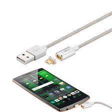 Micro USB Magnetstecker Ladekabel Magnet Kabel Ladegerät für Samsung / Silber