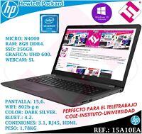 PORTATIL HP PROFESIONAL TELETRABAJO 15,6 15A10EA SSD 256GB 8GB W10 PRO GRABADORA