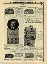 1935 ADVERT Pohl's Hohner's Marine Harmonica Flossie Flirt Tickletoes Ideal Doll