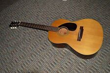 Vintage 1972 Yamaha FG 75 acoustic guitar, red label first Taiwan production