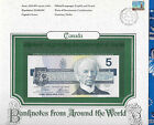 World Banknotes Canada 5 dollars 1986 GEM UNC P95a2 Crow-Bouey Blue Plate # EOM
