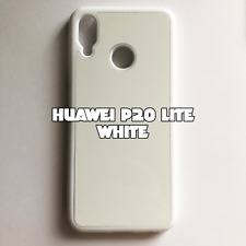 2D Rubber Sublimation Blank Case for Huawei P20 Lite White