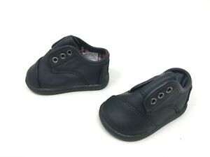 Boys Toddlers Toms paseo black synthetic leather shoes (W37)