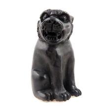 Ebony Ironwood Hand Carved Japanese Netsuke Sculpture Tiger Sitting Up #02072103
