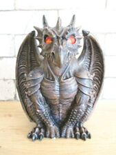 Fantasy Dragon with Tealight Holder Candle 7 7/8in Eyes Glow