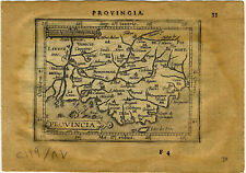1609 Genuine Antique miniature map Se France. Avignon. Rhone. by A. Ortelius