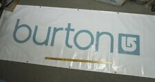 Burton snowboard 2008 dealer only promo Banner blue Massive 3'x8' New Old Stock