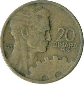 YUGOSLAVIA / 20 DINARA 1955 COIN ONE COIN/BUY!