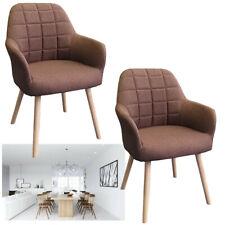 2x Set Esszimmerstühle Konferenzstuhl Retro Design Braun Küchenstuhl Stuhlgruppe