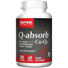 Q-absorb Co-Q10 - 60- 100mg Softgels by Jarrow Formulas - Natural Co-Enzyme Q-10