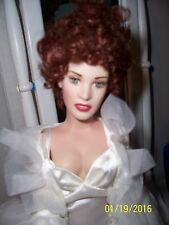 "FRANKLIN MINT 16""Vinyl TITANIC ROSE Doll in TONNER Night Gown Set & Stand"
