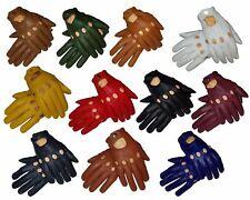 Genuine sheepskin Leather Driving Gloves