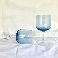 Mid century modern glass Wine Cordial Cocktail Liqueur chalices goblets