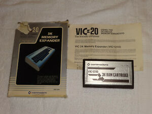 Commodore VIC-20 3k RAM Memory Expander Cartridge (VIC-1210) Untested