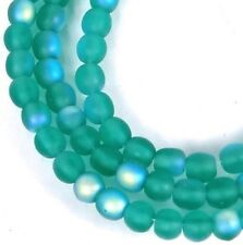 Oval Ring Bead Opaque Sea Foam Green w//Frosted Matte Finish 2 Pcs 22 x 16 mm