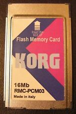 KORG Flash Memory Card for Pa80 , Pa60 , Pa50 , New,16Mb ,Made in Italy,Tax Free
