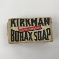 Vintage Kirkman Borax Soap Bar in Original Wrapper Colgate Palmolive Co