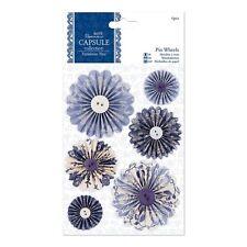 Ruedas De Pin Papermania 6 Piezas Capsule Colección Parisienne Azul
