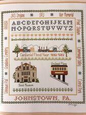 1989 Johnstown PA Flood Centennial Cross Stitch Sampler Pennsylvania RARE