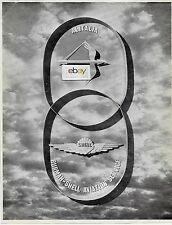 SHELL OIL AVIATION PRODUCTS BURMAH SHELL INDIA ALITALIA 1962 AD