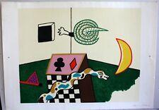 """Alan Davie original-litografía, """"Snake Box"""" autografiada"""