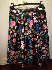 Bellissima gonna Fashion a ruota, stile anni '50,a fiori,Made in Italy, taglia L